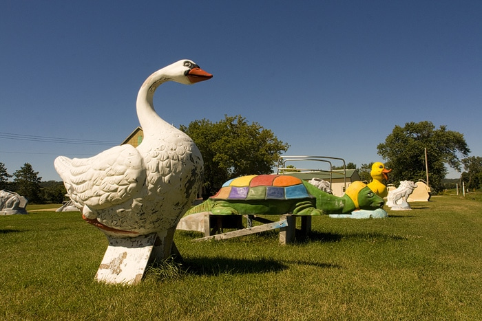 Swans, Turtles, and Mermaids at F.A.S.T. – Fiberglass Animals, Shapes & Trademarks