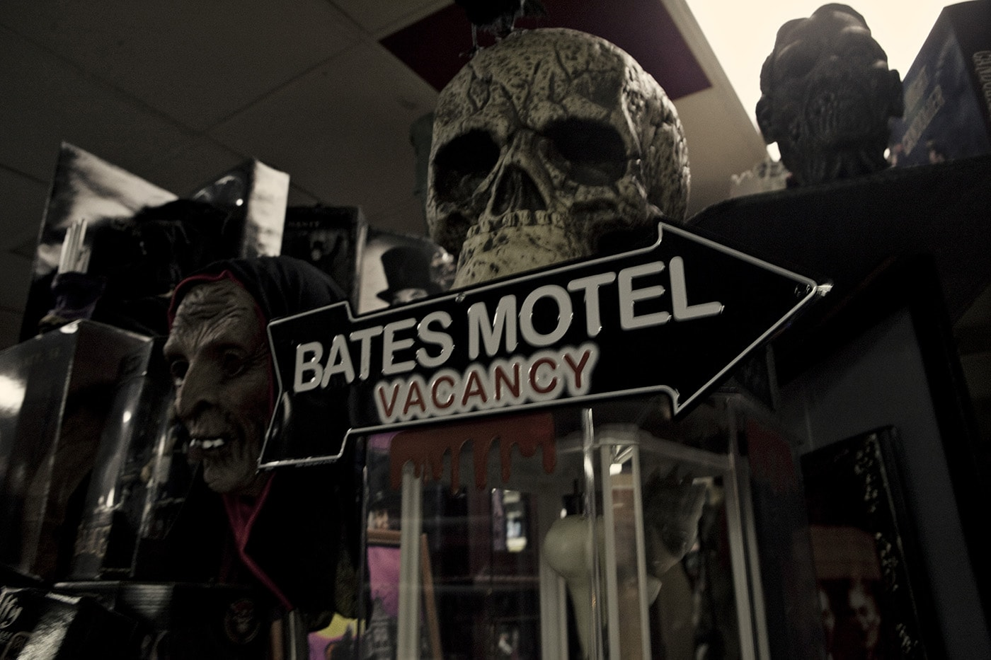 Bates Motel sign at Americana Hollywood Museum in Metropolis, Illinois