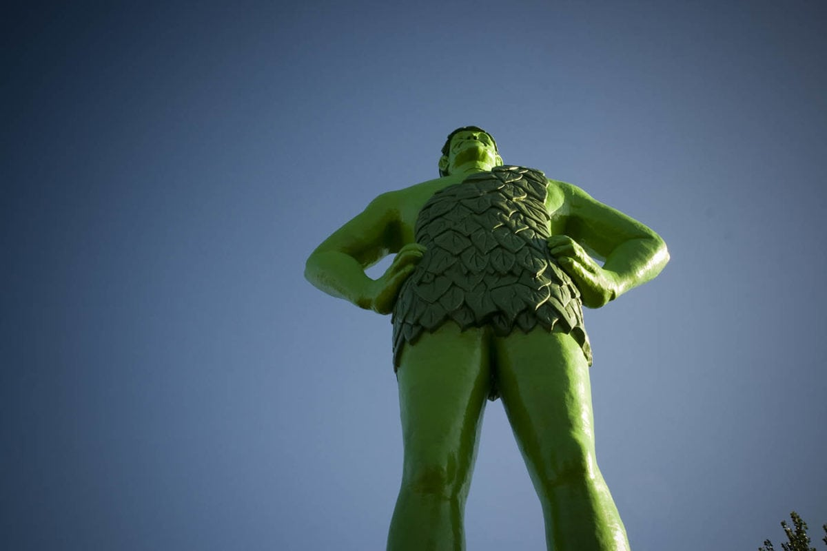 Jolly Green Giant statue in Blue Earth, Minnesota