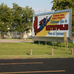 Welcome sign: Metropolis, Illinois: Home of Superman