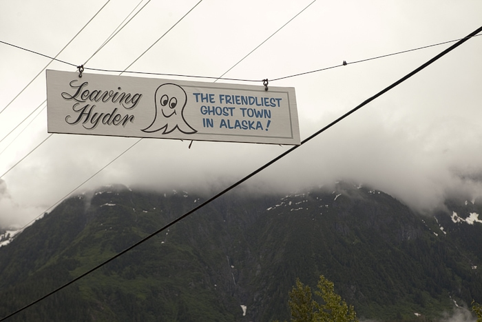 Leaving Hyder – the friendliest ghost town in Alaska!