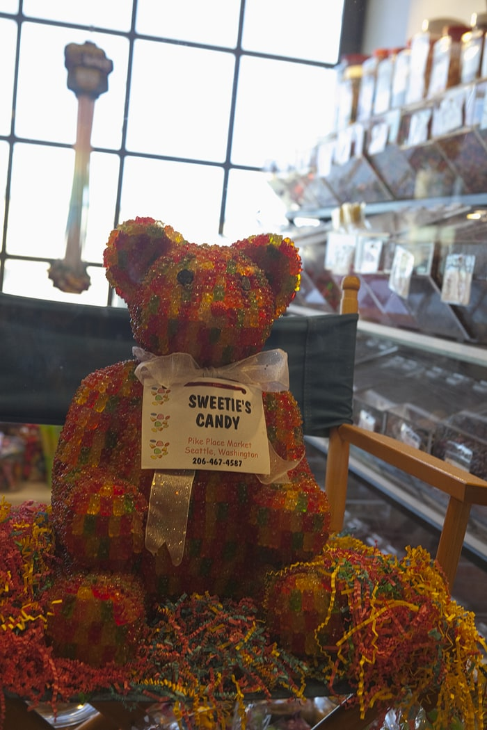 Pike Place Market – Gummy Bear made from Gummy Bears