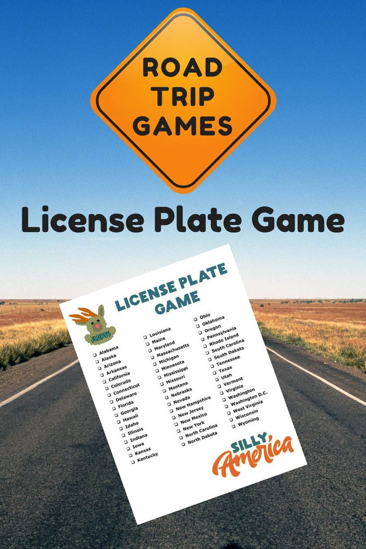 License Plate Game - Road Trip Car Games! Free downloadable sheets.