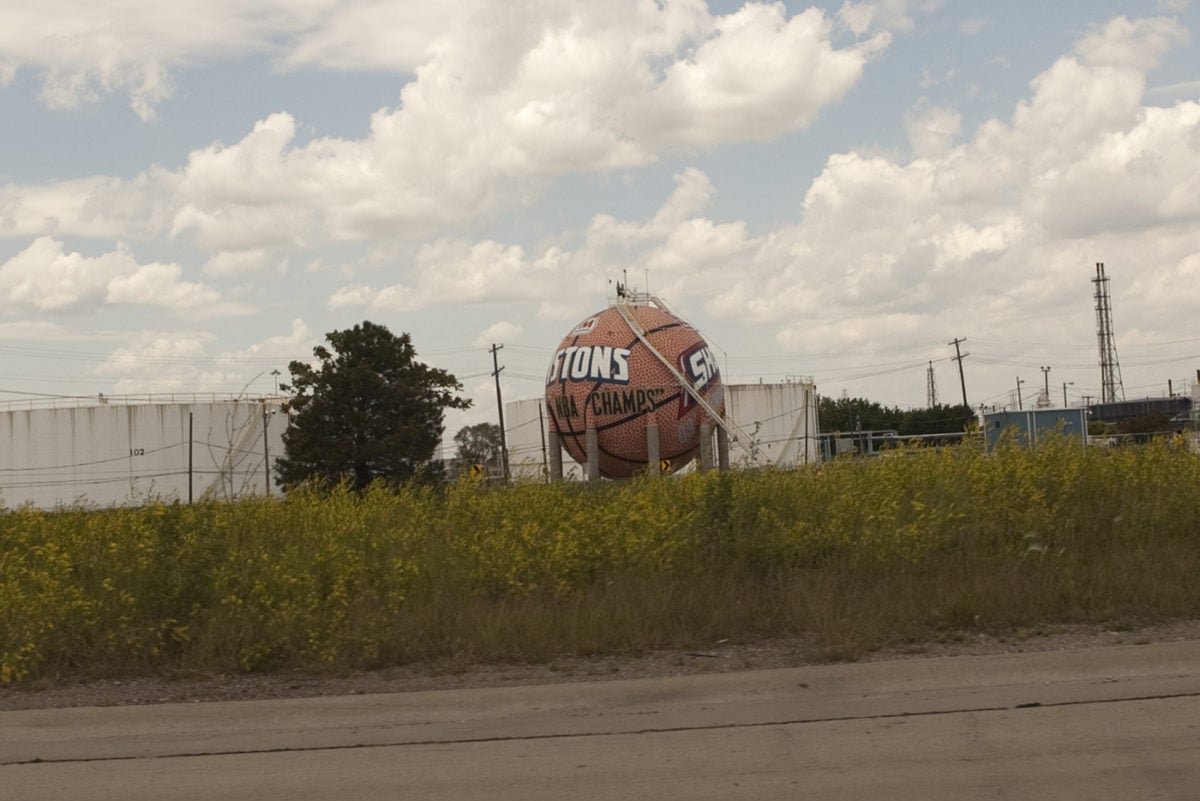 🏀 Giant Basketball Gas Tank in River Rouge/Detroit, Michigan