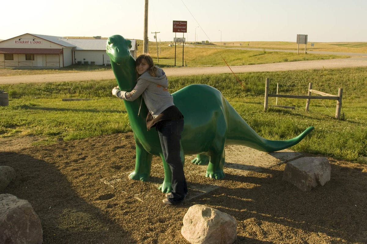 The Sinclair Oil Dinosaur – Gas Station in South Dakota