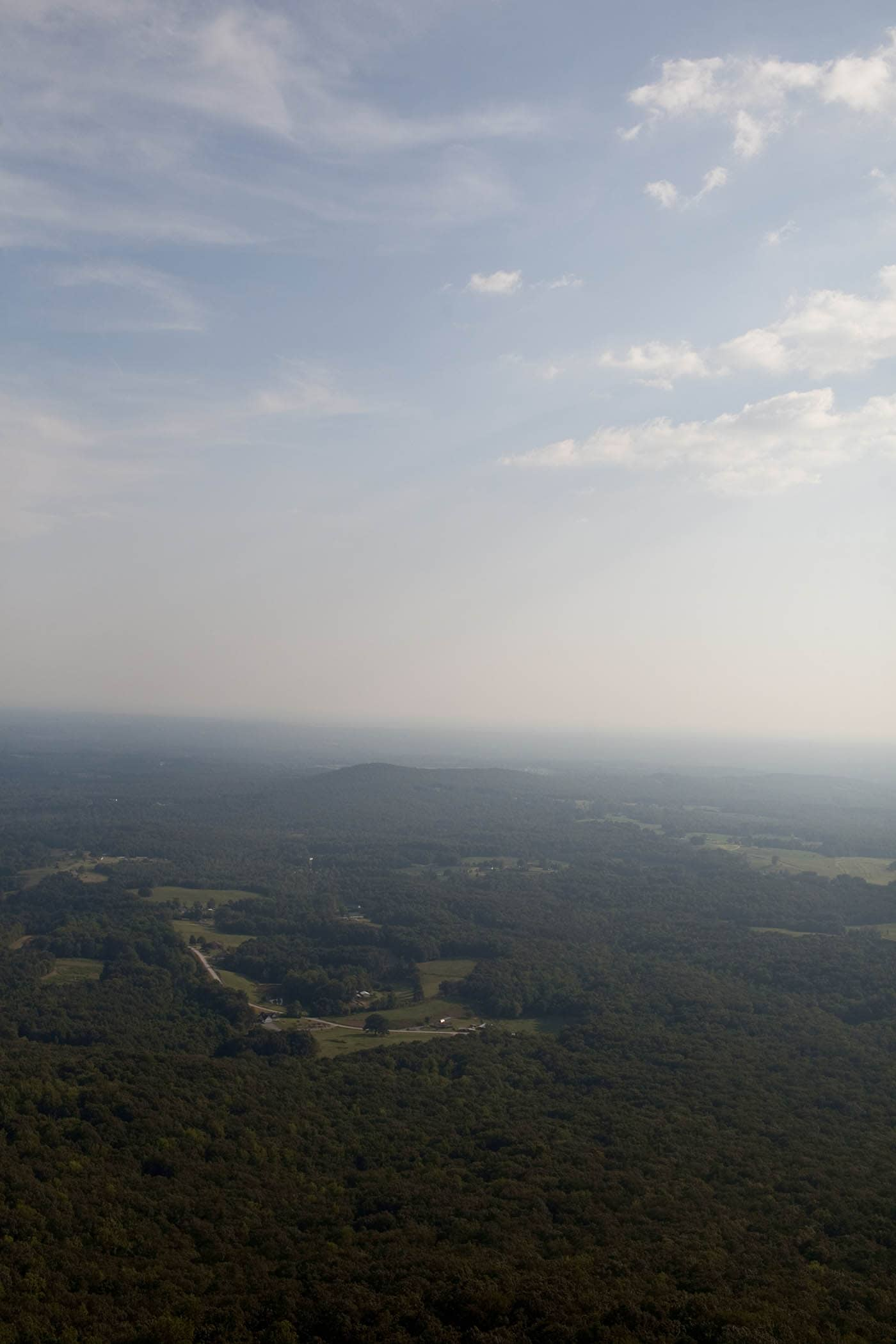 View from the mountains in North Carolina