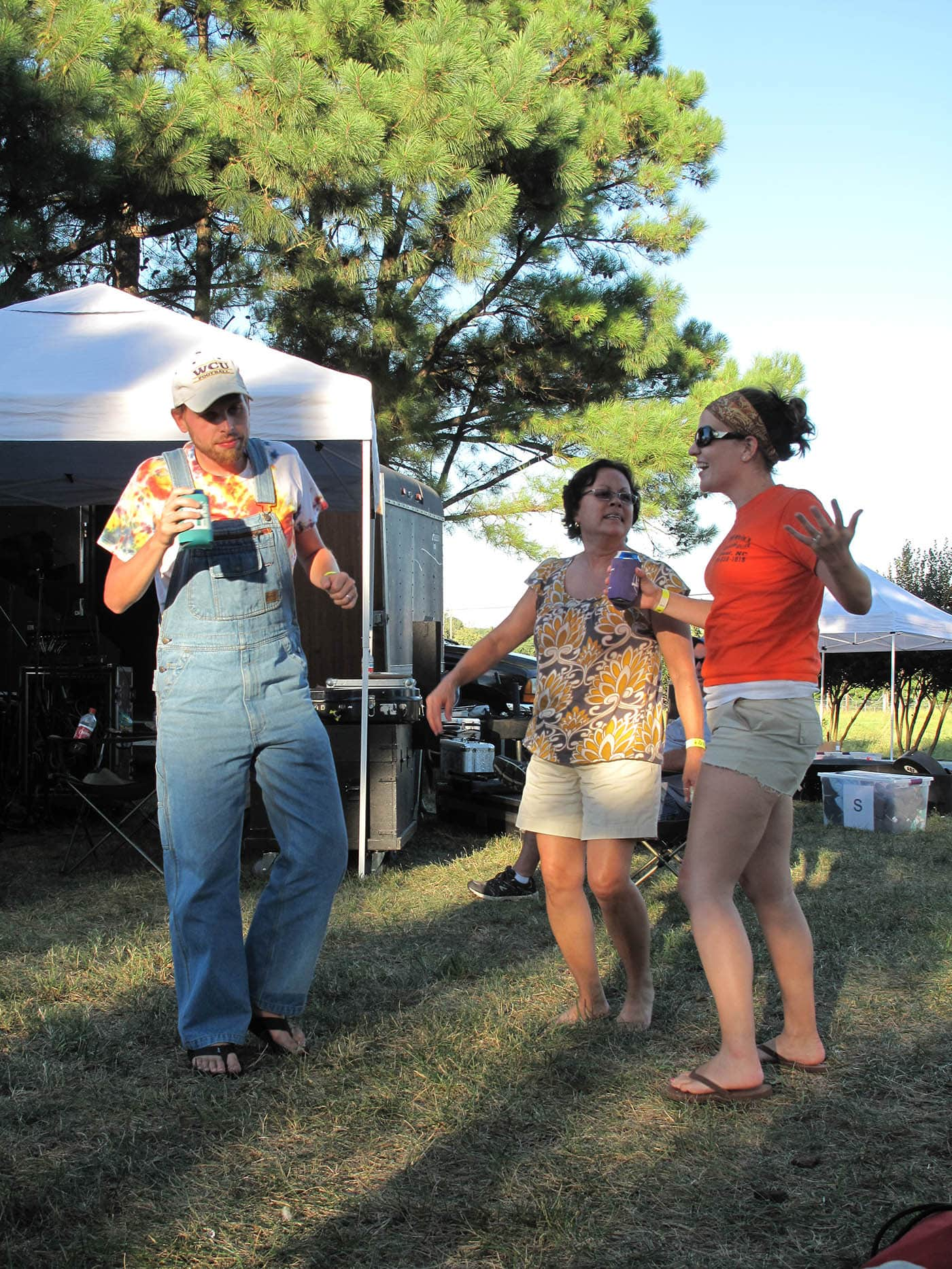 Dancing at RedBone Willy's Bluegrass Festival