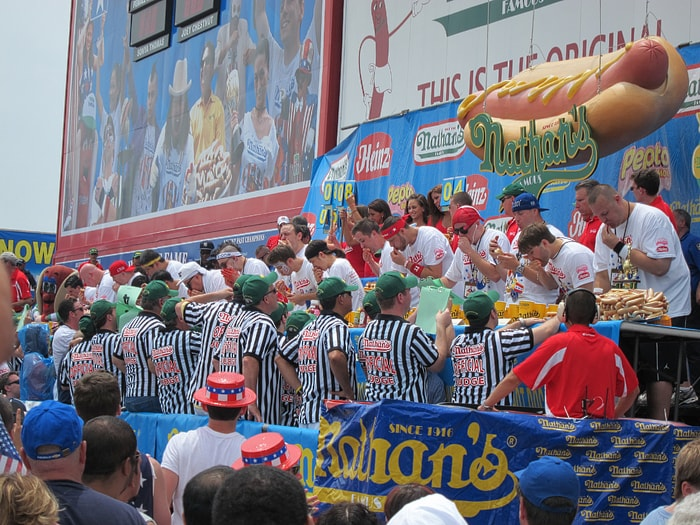 Nathan's Famous July Fourth Hot Dog Eating Contest at Coney Island