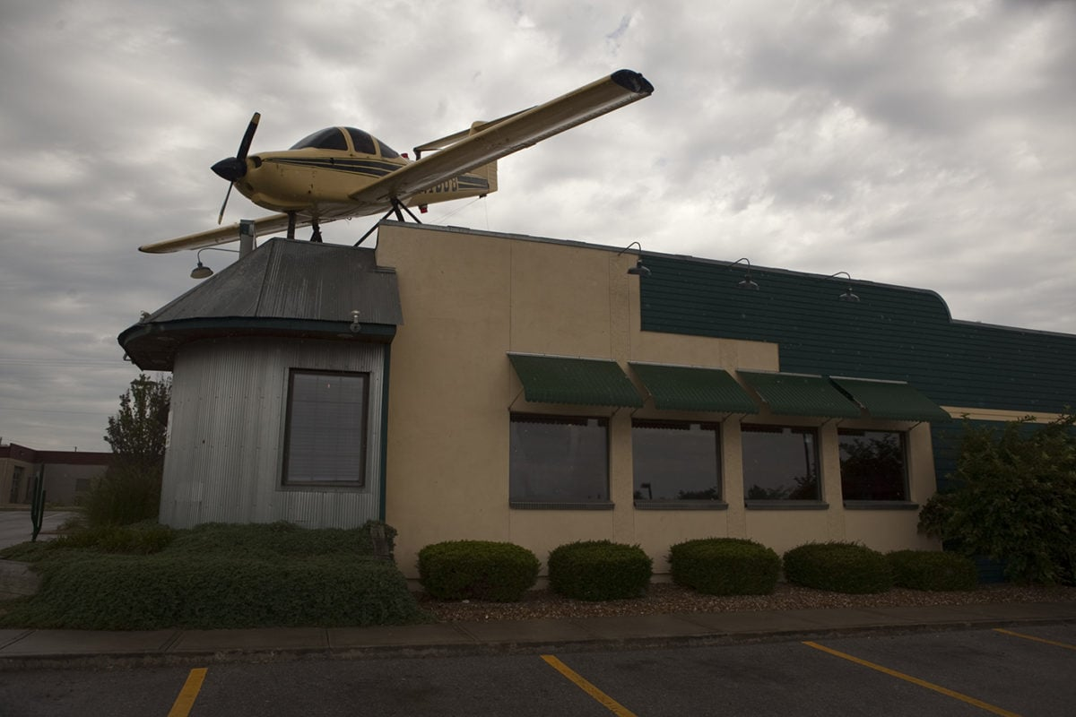 Airplane on a Restaurant's Roof in Lee's Summit, Missouri