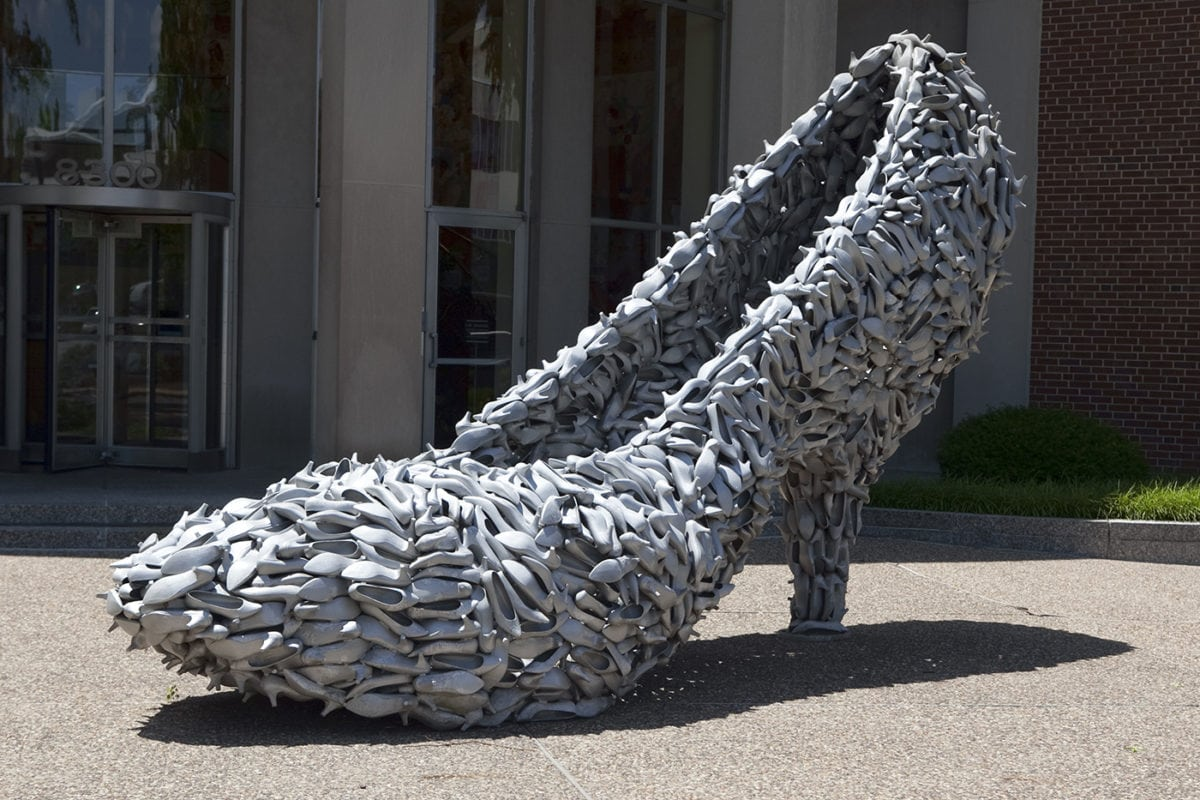 👠 Big Shoe Made of Shoes in Clayton, Missouri