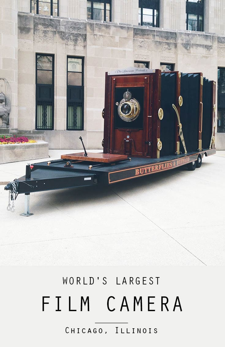 Dennis Manarchy's World's Largest Film Camera in Chicago, Illinois | Roadside Attractions in Illinois